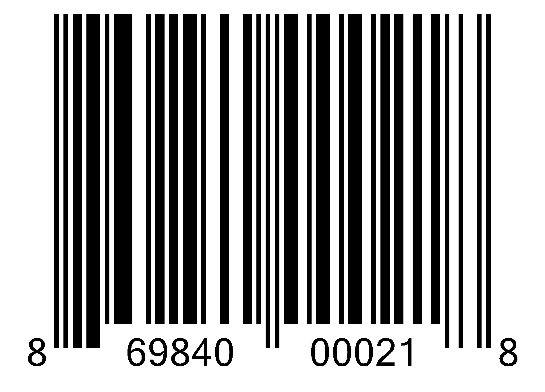 Wired device UPC bar code
