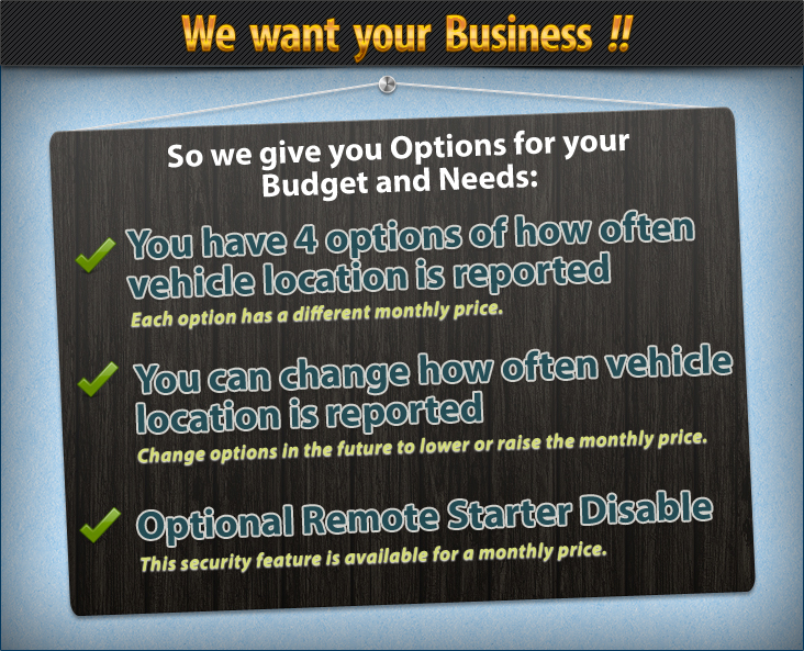 WE want your business